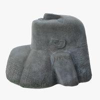 3D stone statue model