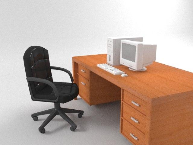 3D desk pc keyboard