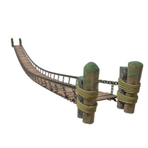 drawbridge bridge moss 3D model