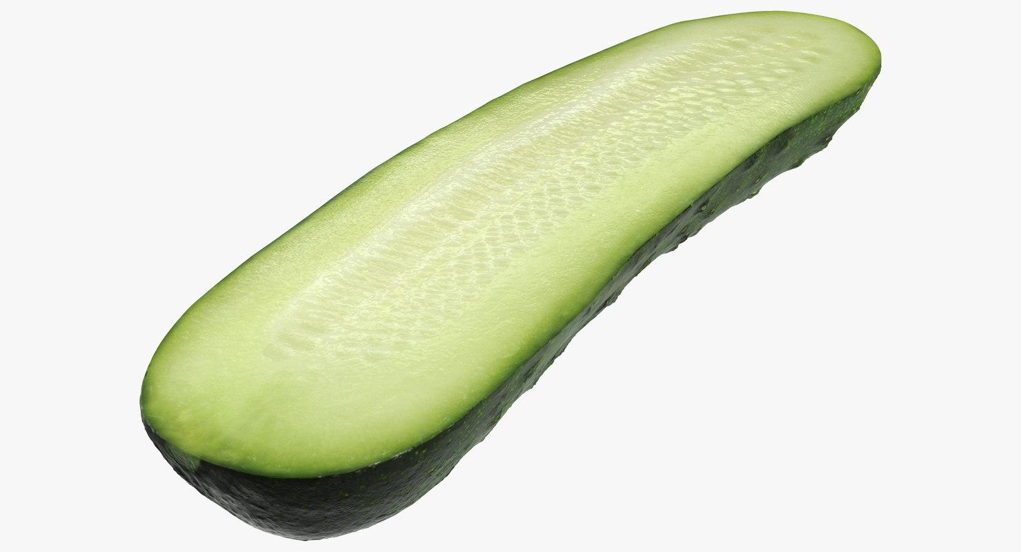 cucumber half 3D model