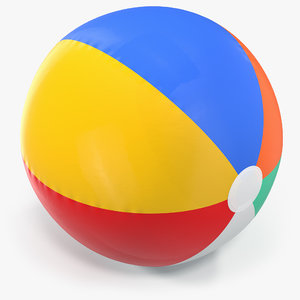 3D inflatable rainbow color beach ball