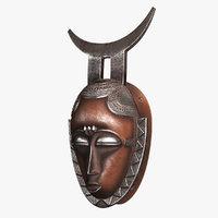 african mask baule model