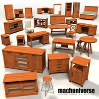3D carson forge sauder furniture model