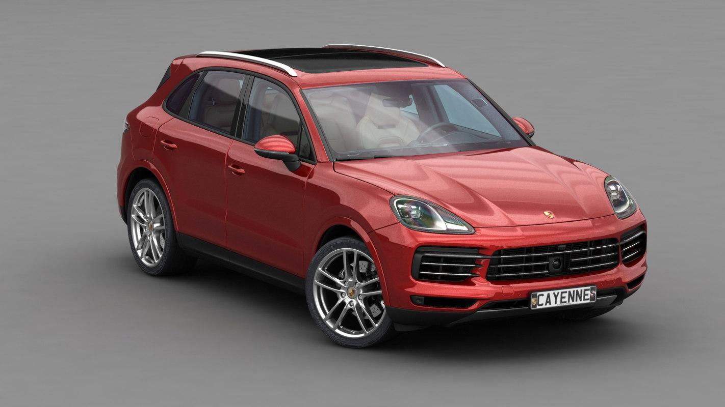 porsche suv 2018 red. Porsche Cayenne S 2018 3D Model Suv Red