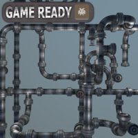 Modular Pipes system (Gameready)