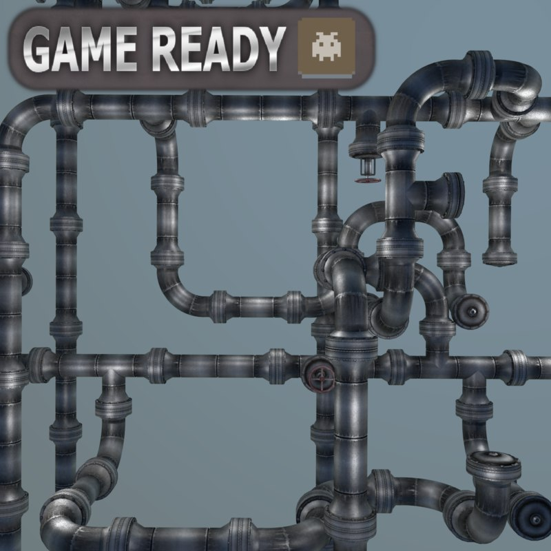 unreal modular pipe systems model