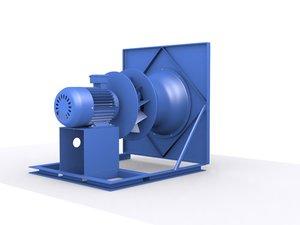 3D ahu fan motor
