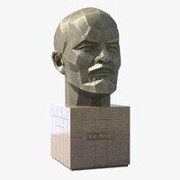 vladimir lenin monument 3D
