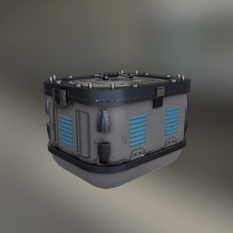 3D model metall chest