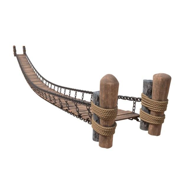 3D drawbridge bridge