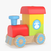 3D toy train constructor