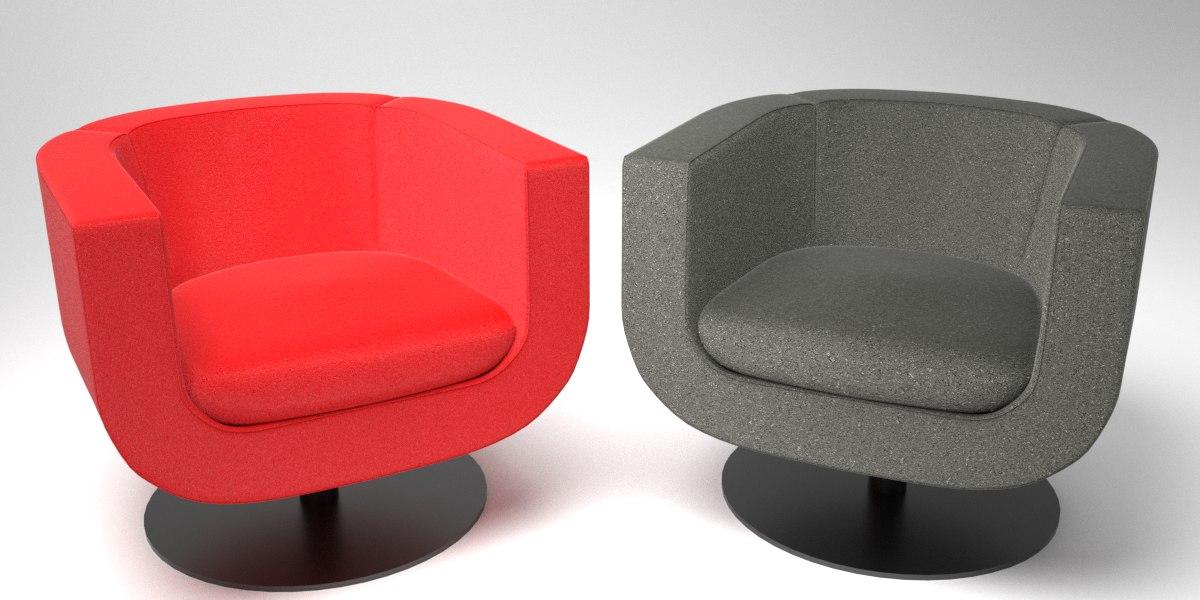 3D model interior b italia tulip