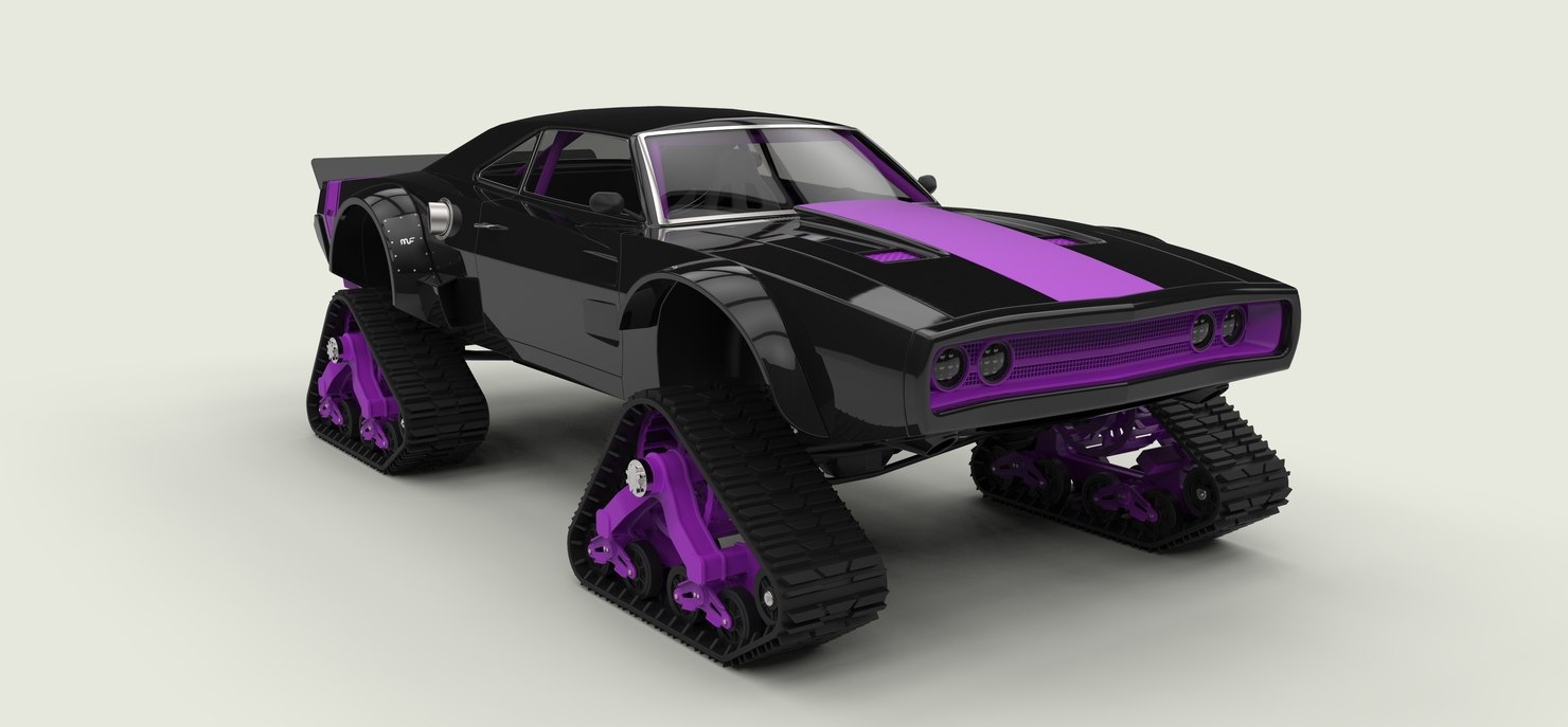 3D dodge charger track