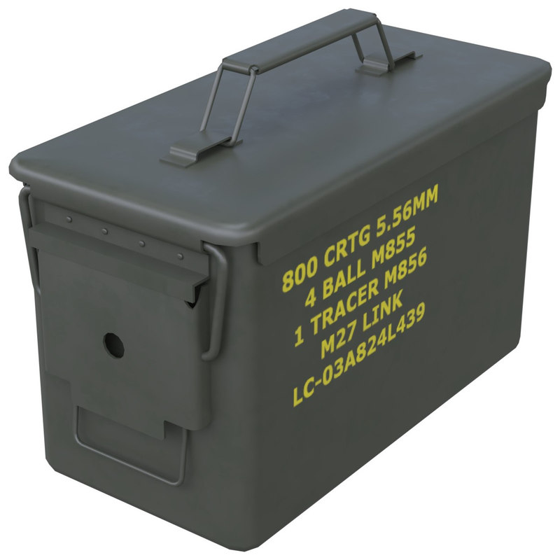 ammunition box 1 new 3D model