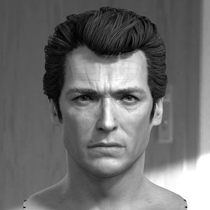 3D model clint eastwood head male