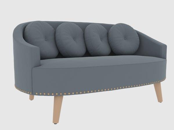 3D mouraria sofa branco sobre