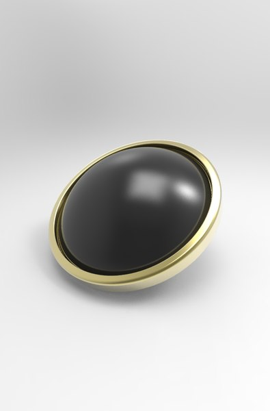button cuff 3D model