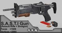 3D sasti rifle model