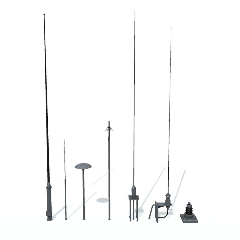 radio antenn ship 3D model