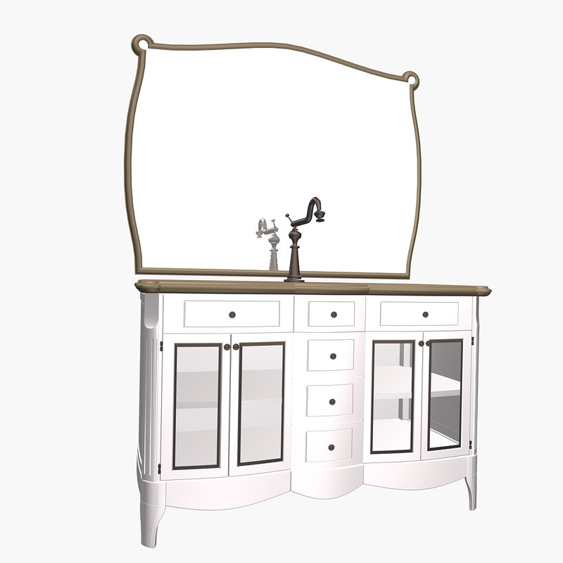 3D mirror stand model