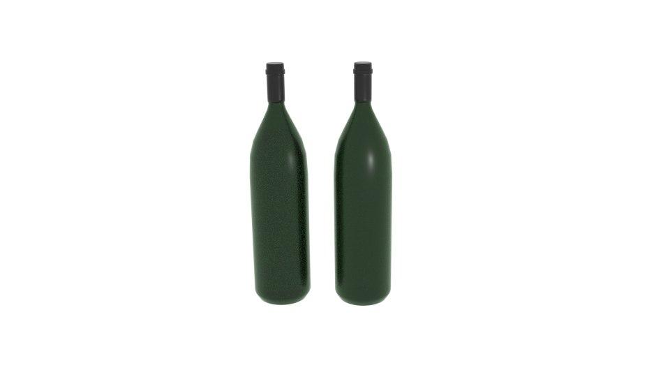 champagne bottle long model