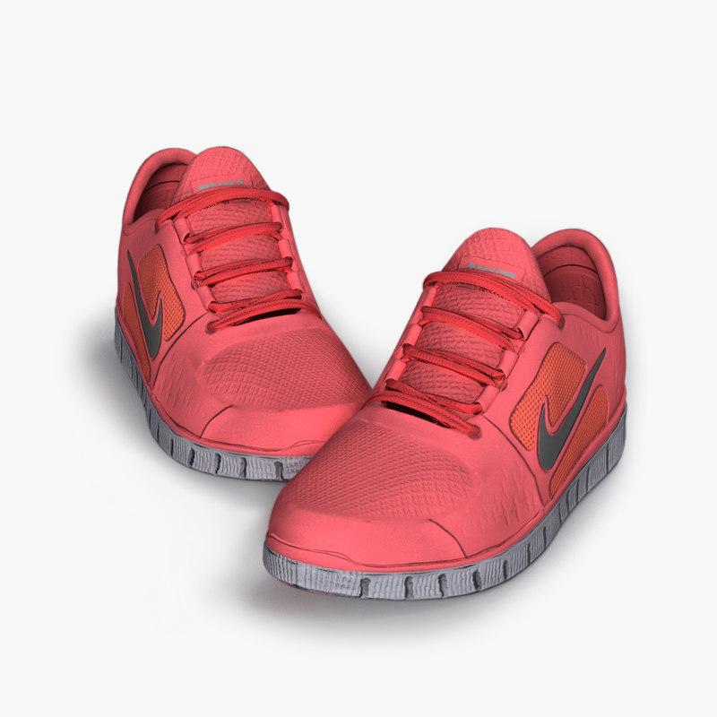 3D model running shoes