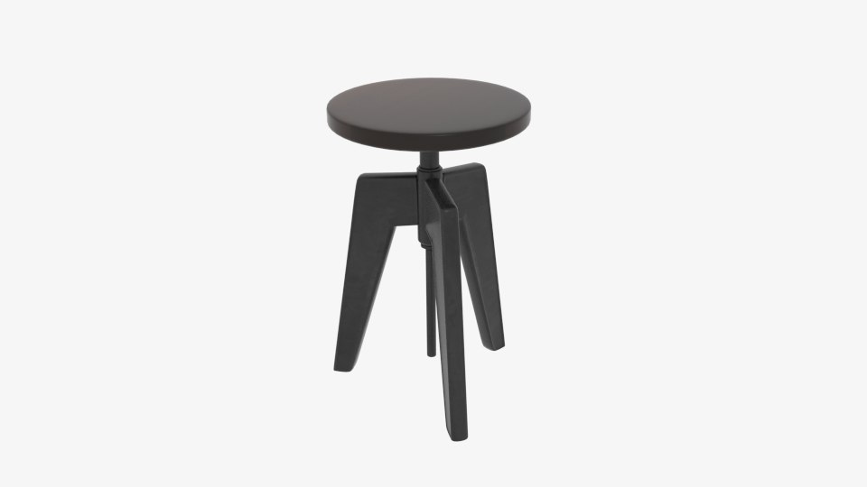 3D contact cast iron stool model