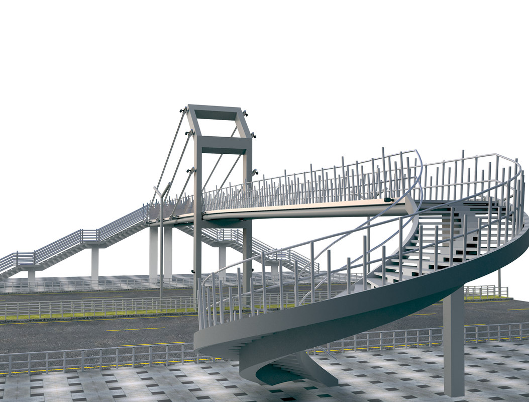 pedestrian bridge 3D model