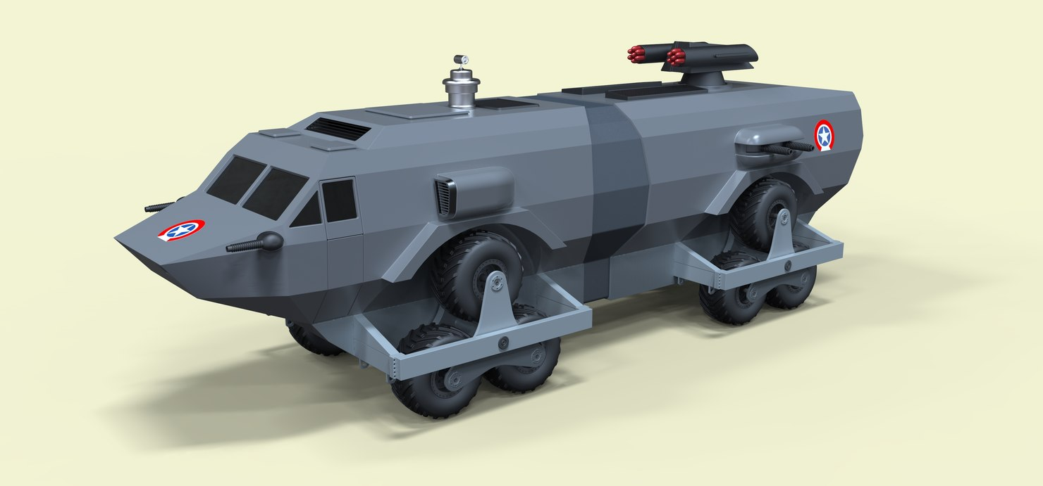 3D landmaster damnation alley