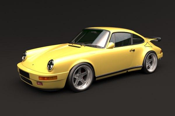 modified sports car ruf 3D model