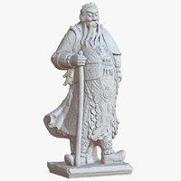 3D sculpture thai guardian 1m model