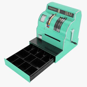 retro cash register 3D