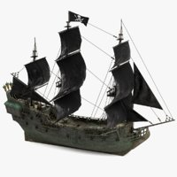 3D black pearl pirates model