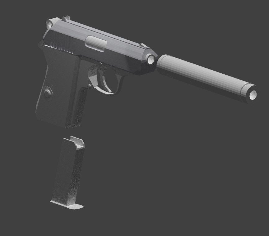 3D walther ppk
