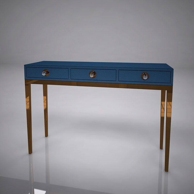 three-drawer console 3D model