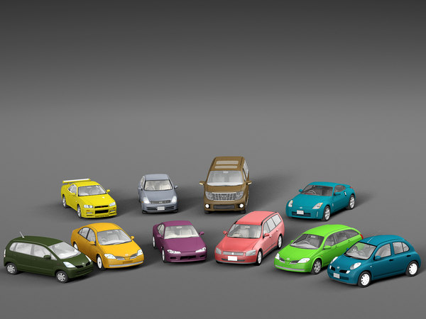 3D japan cars pack vehicle