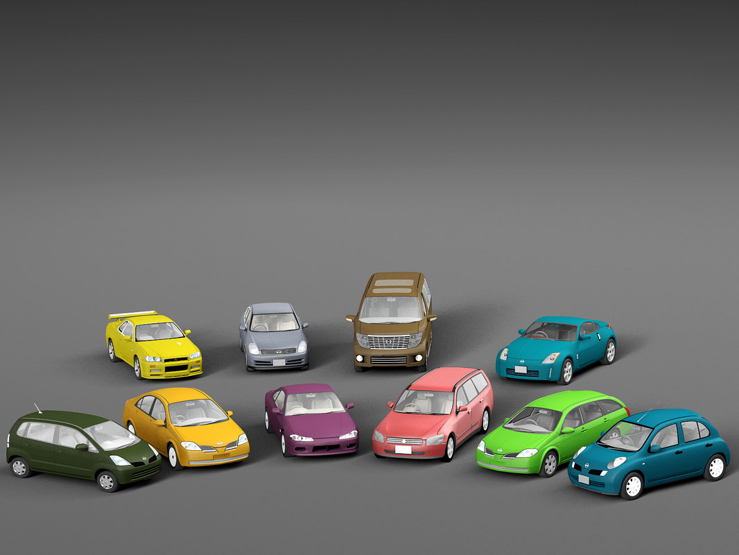 3D japan cars pack vehicle