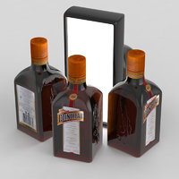 3D alcohol bottle cointreau model