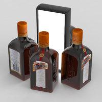 3D alcohol bottle cointreau model
