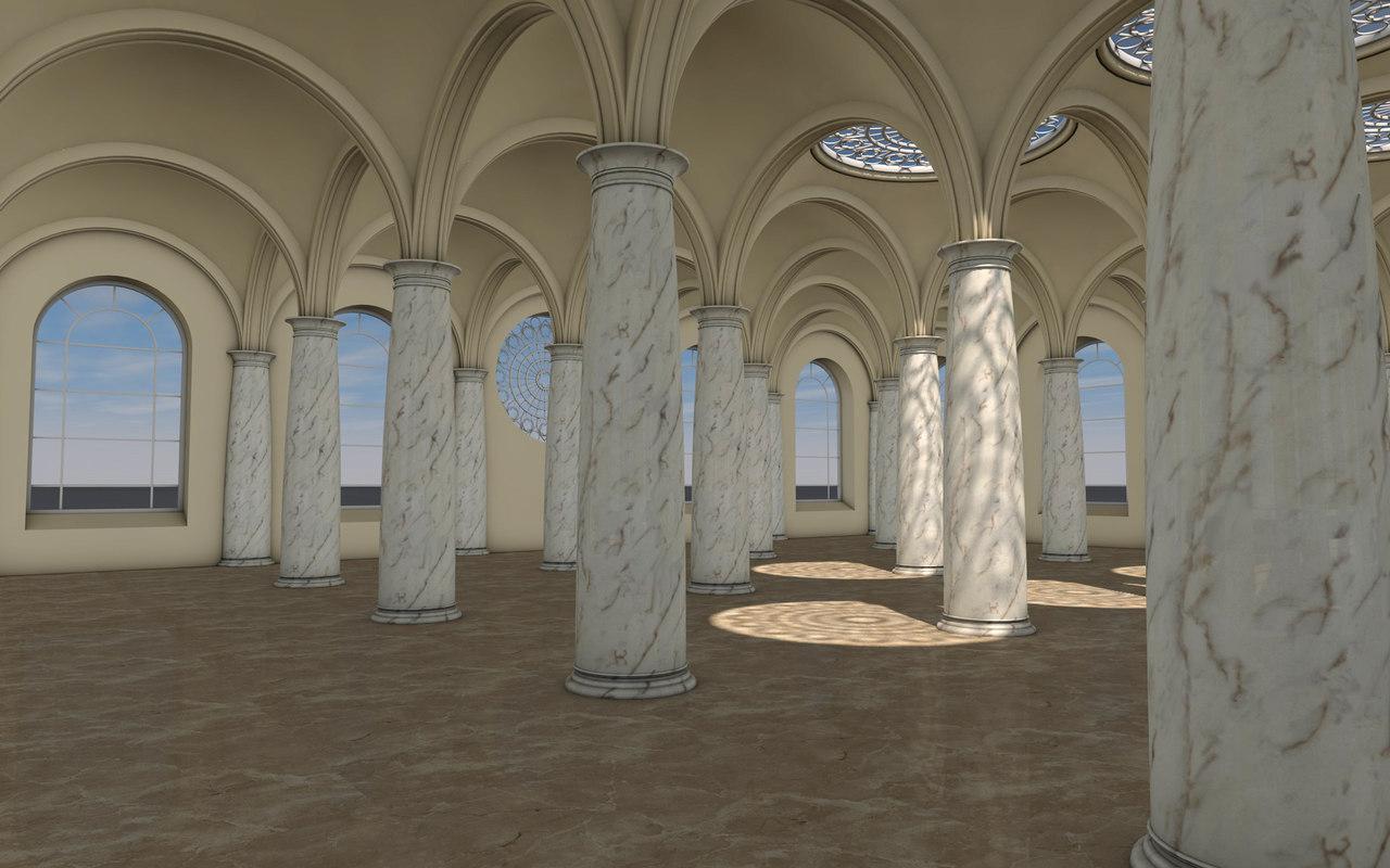 hall columns 3D