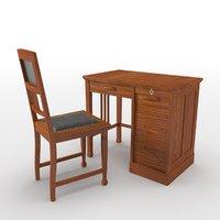 simple desk chair 3D