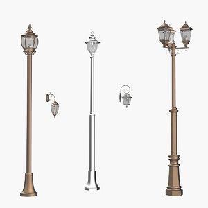 outdoor lights 2 lamp 3D model