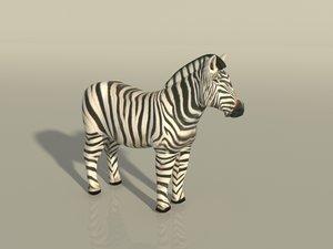 3D zebra - edit