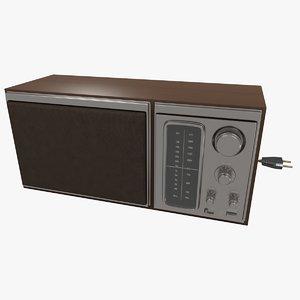 3D radio sony model