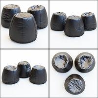 3D pouf urban