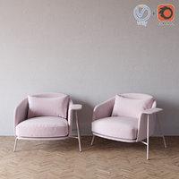 kepi armchair saba italia model