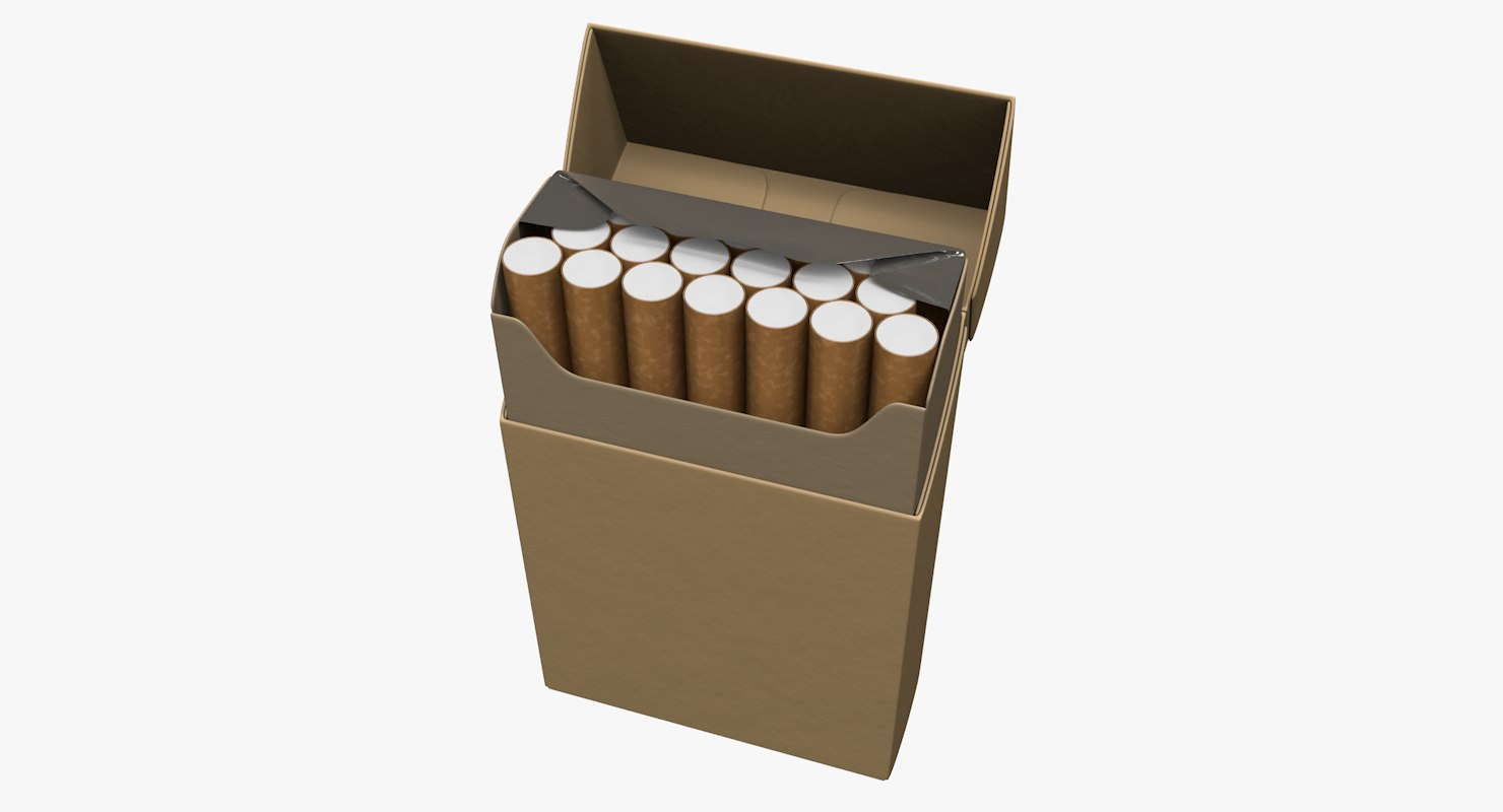 3D model cigarette pack
