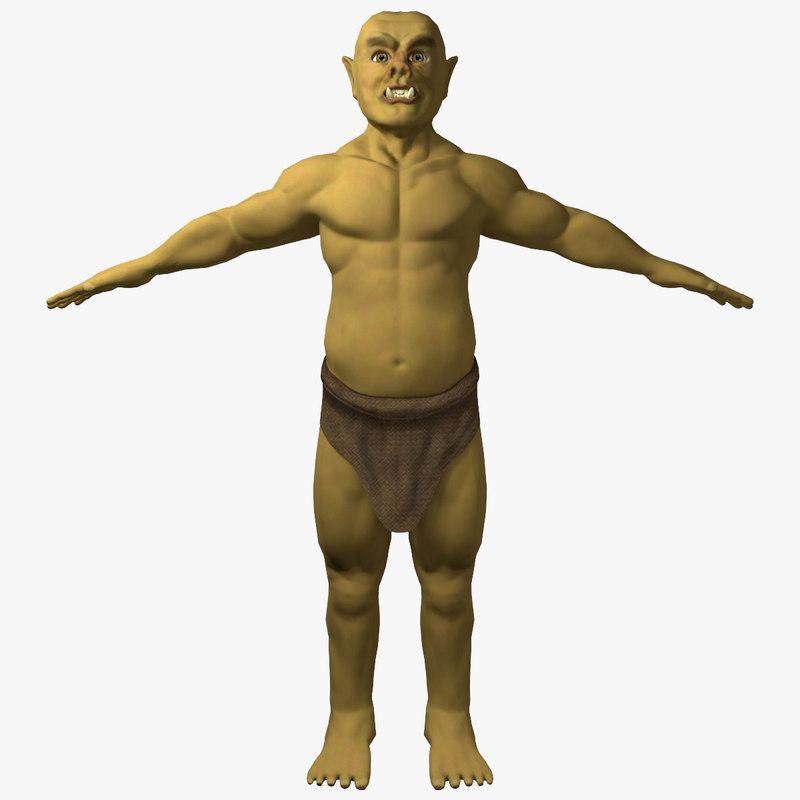 3D ogre ready character model