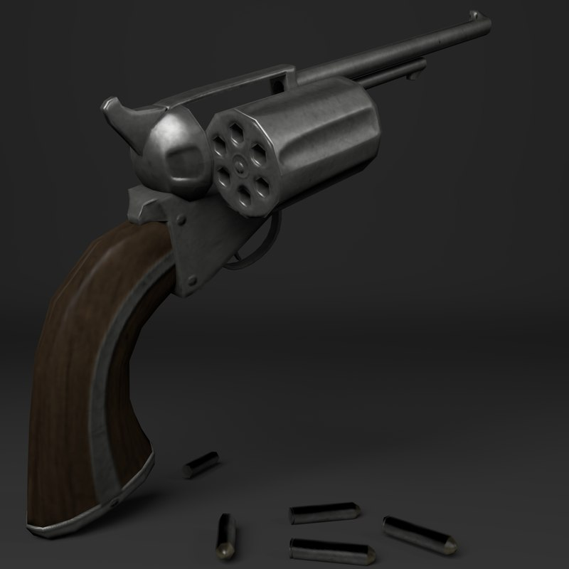 western pistol 3D