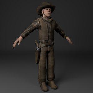 3D cowboy character